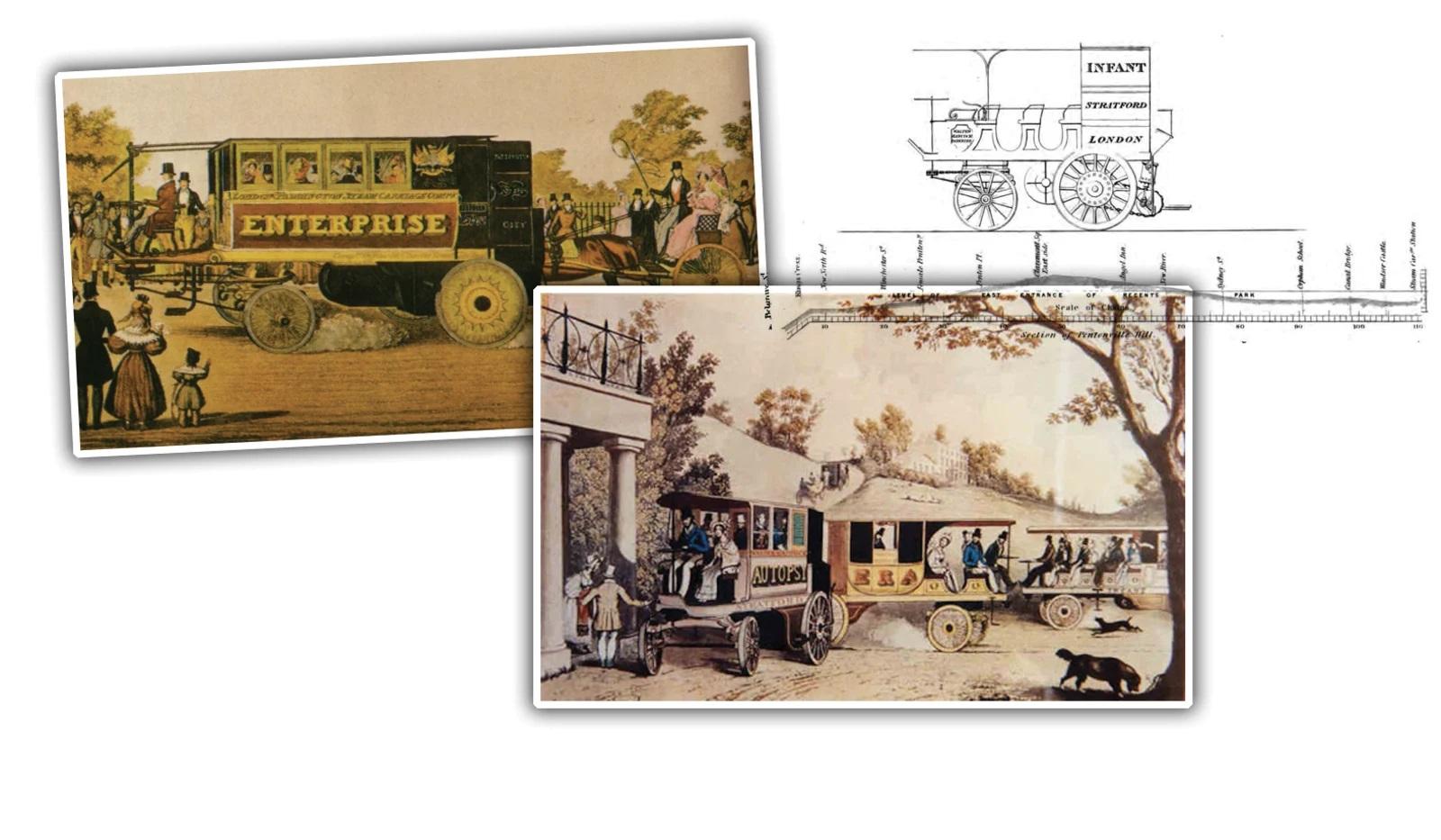 1831 Walter Hancock's Steam Omnibuses