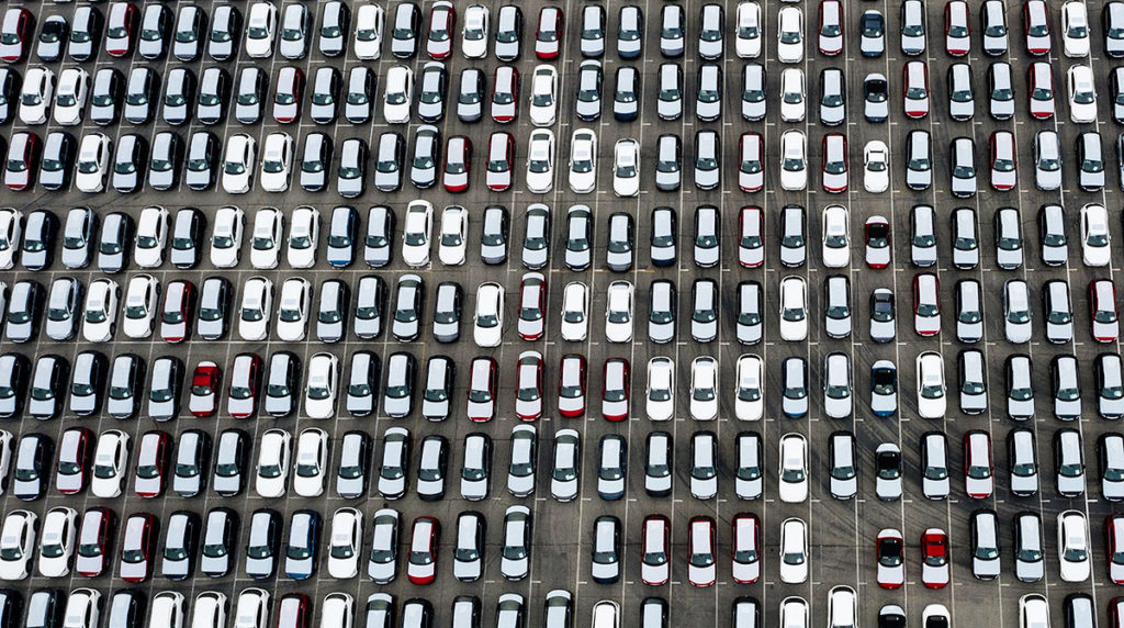 Imported Vehicles to USA Parked at Sea Reveal Scope of US Auto Market Glut